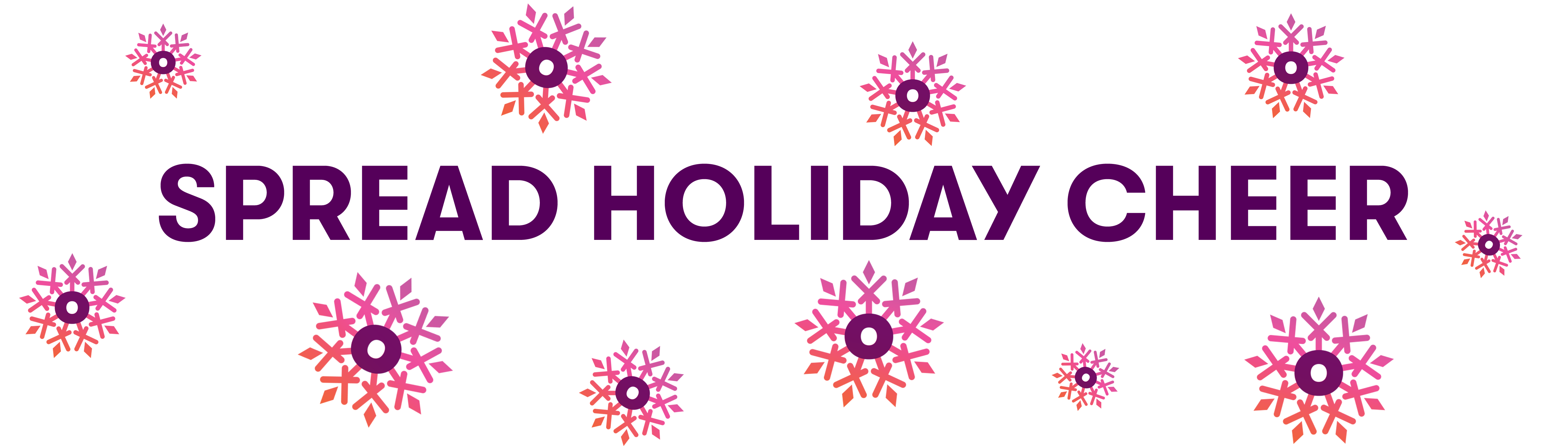 Holiday Cheer Banner Purple